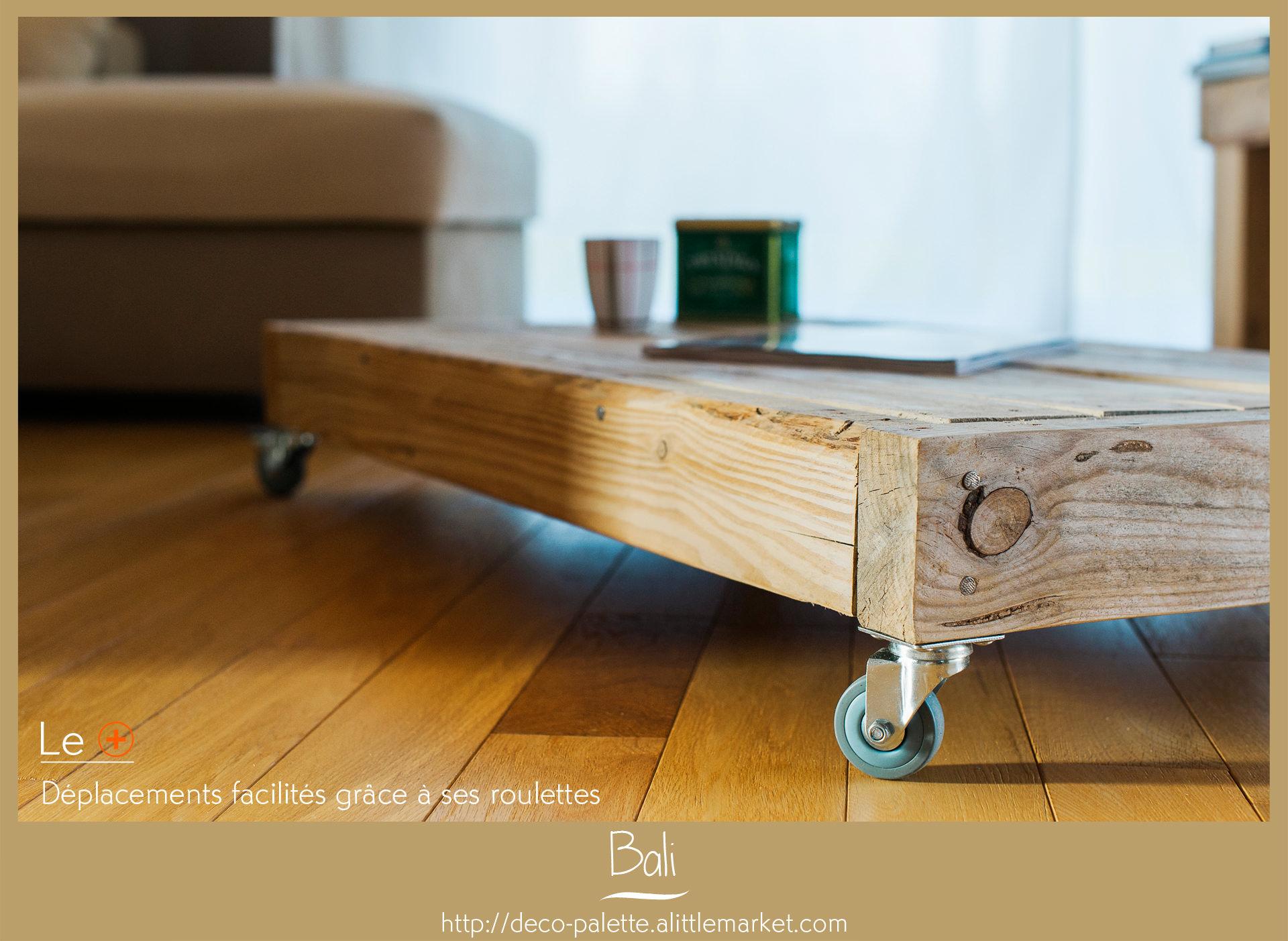 table basse bali deco palette. Black Bedroom Furniture Sets. Home Design Ideas
