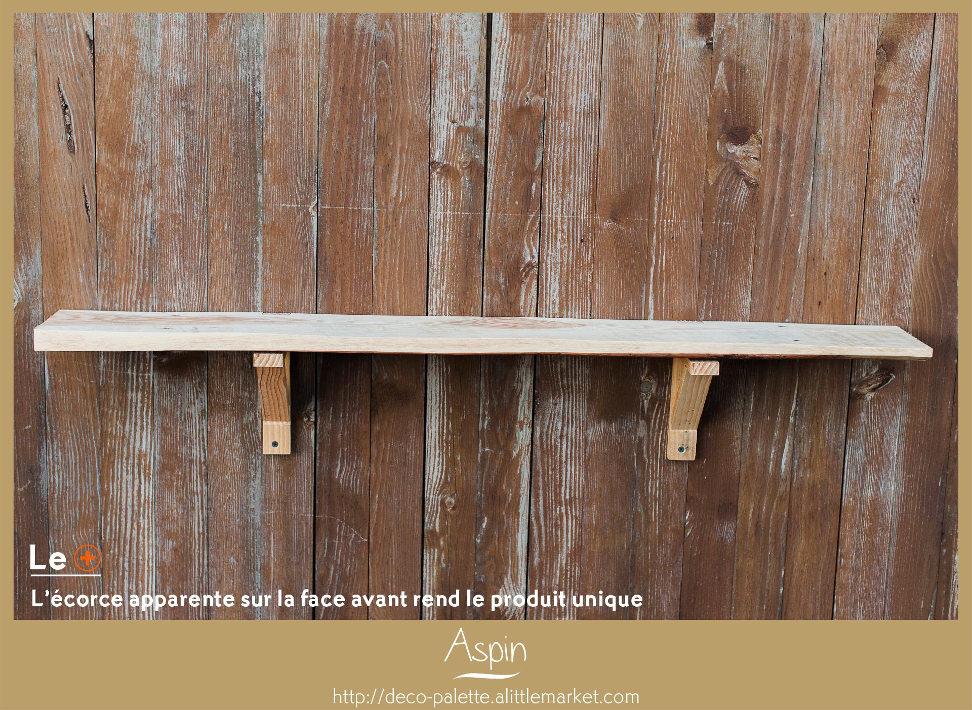 étagère faite main en bois de palette recyclée, made in 14, récup, mobilier eco responsable