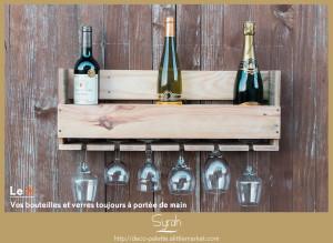 fait main, made in 14, bois de palette recyclée, bar à bouteille, bar à vin