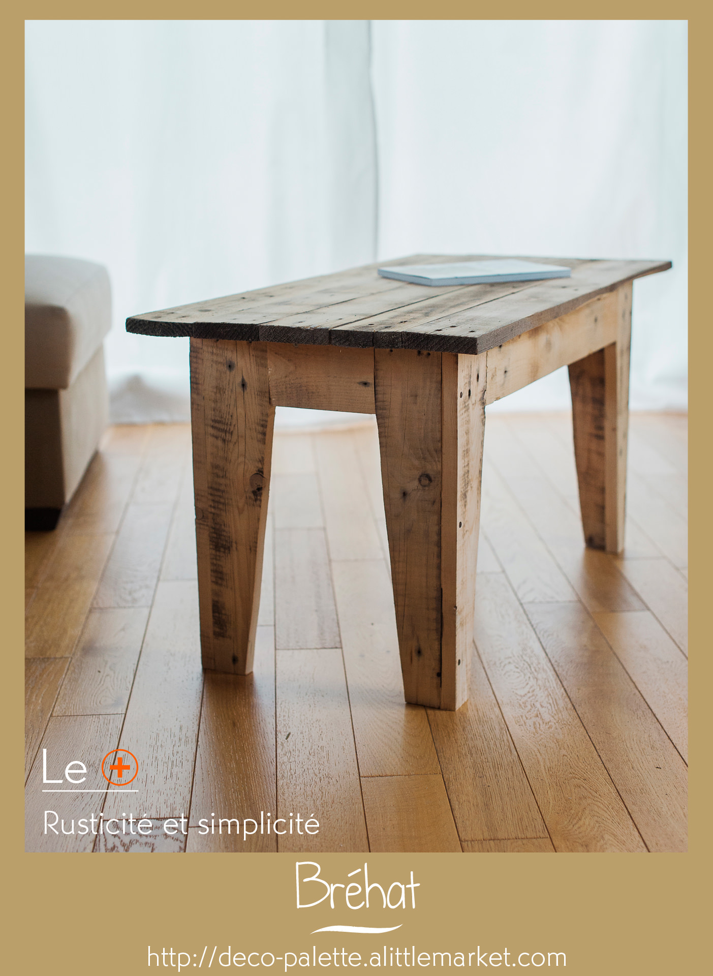 Table basse – Design rustique