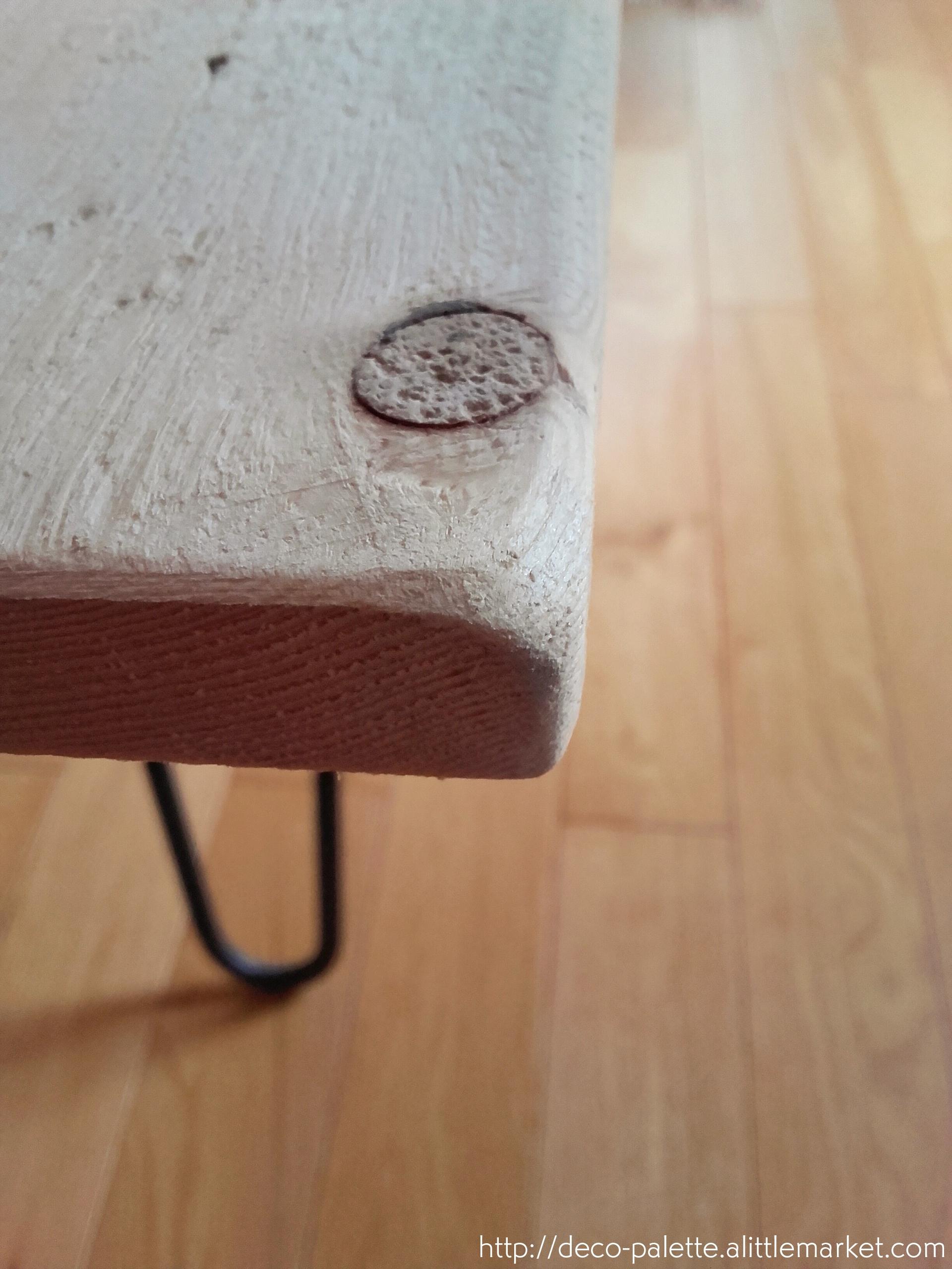 diy, fait main, table en bois massif, récup, plateau rustique