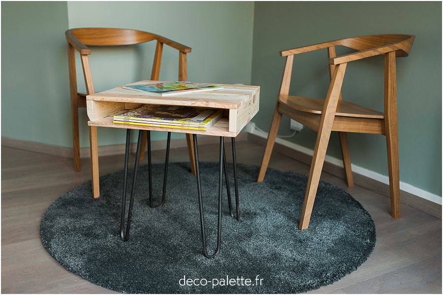 table basse palette fait main made in normandie caen mobilier écoresponsable