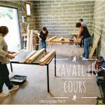 apprendre à fabriquer ses meubles en palettes, au charbon courseulles sur mer, calvados